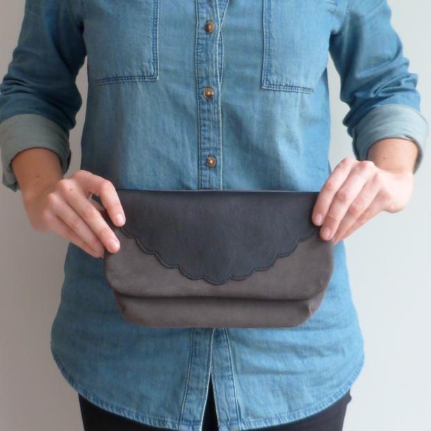Pochette cuir selon Mathilde Lhuillier, Artesane - Auguste & Septembre