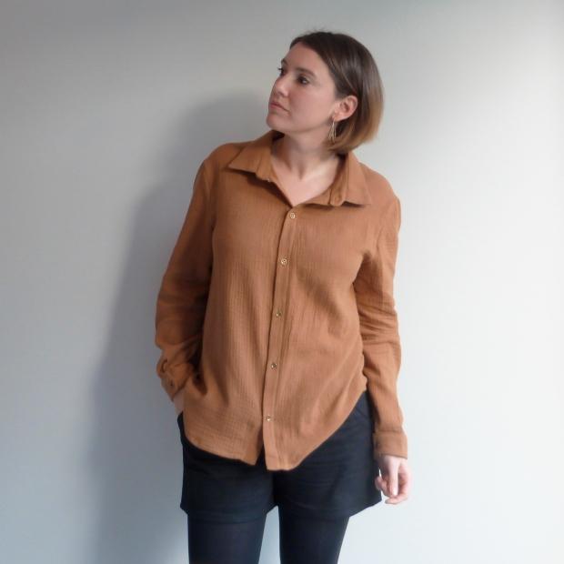 Chemise Hedwige - République du chiffon - Short Chataigne - Deer&Doe - Auguste & Septembre