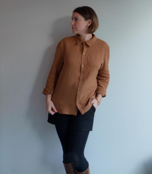 Chemise Hedwige - République du chiffon - Short Chataigne - Deer&Doe- Auguste & Septembre
