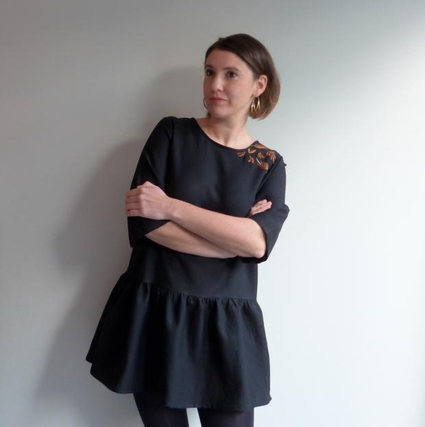 Robe Viviane brodée - République du chiffon - Artesane - Auguste & Septembre