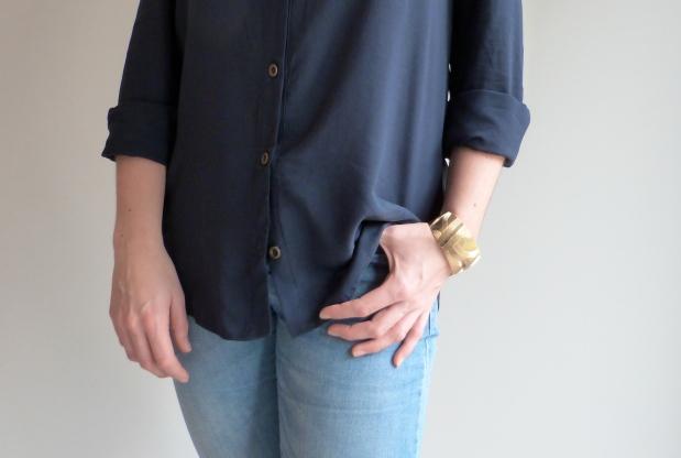 Archer Button Up Shirt - Grainline Studio - Bracelet Sézane - Auguste & Septembre