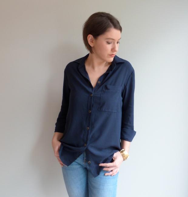 Archer Button Up Shirt - Grainline Studio - Auguste & Septembre